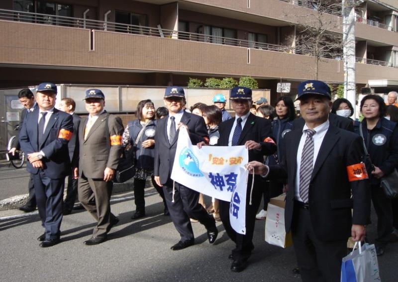 南区お三の宮地区防犯・防災パレード